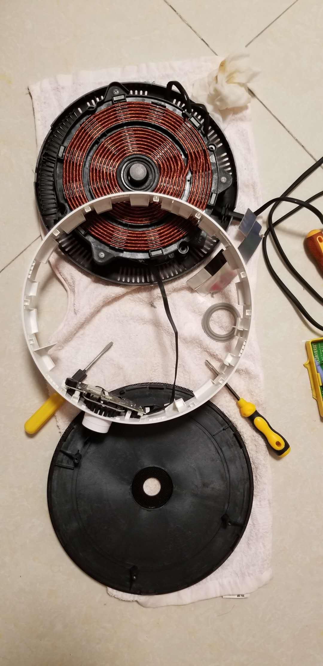 小米米家电磁炉拆机 旋转按钮长按失效修复教程 设计缺陷