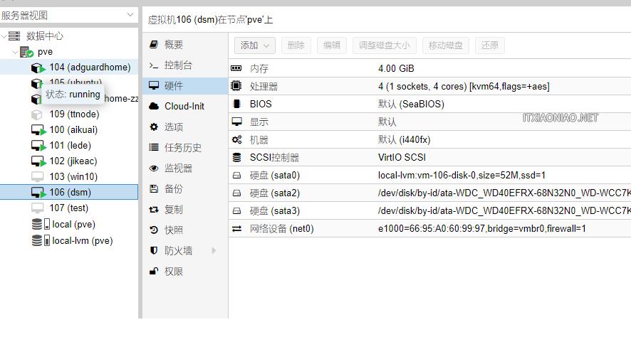 USB硬盘挂载到PVE LXC容器使用/ Proxmox VE硬盘直通黑群晖