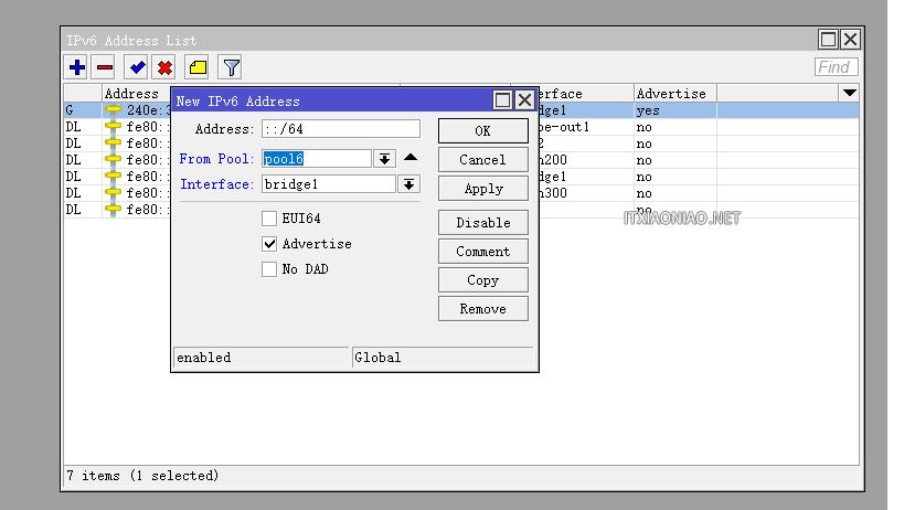 MikroTik Routers ROS电信移动获取并给所有内网设备分配ipv6地址